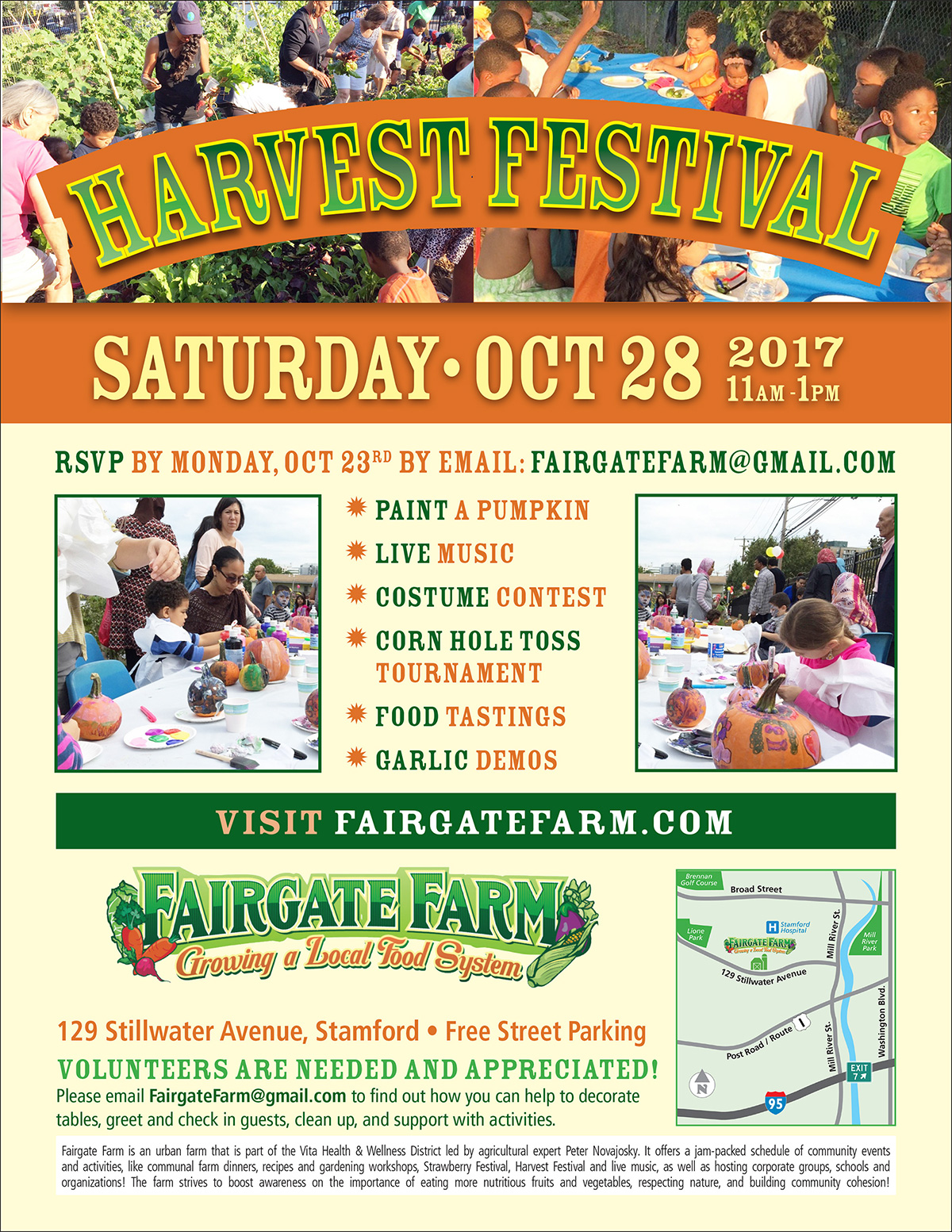 events calendar fairgate farm