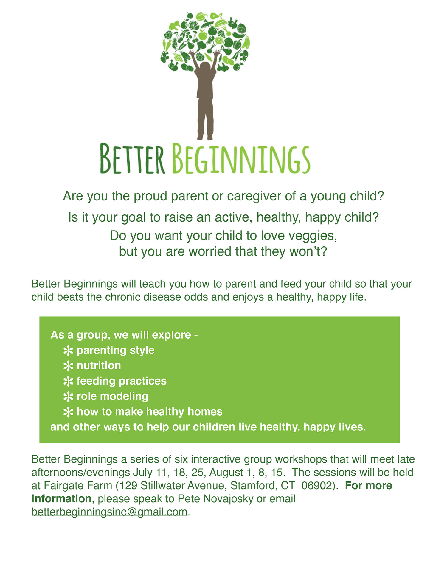 Better Beginnings Workshops 2018